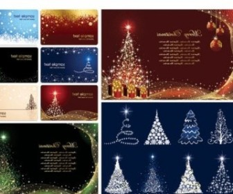 Vector Christmas Card Background Vector Art