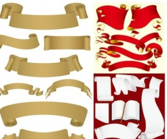 Vector Ribbon And Paper Vector Art