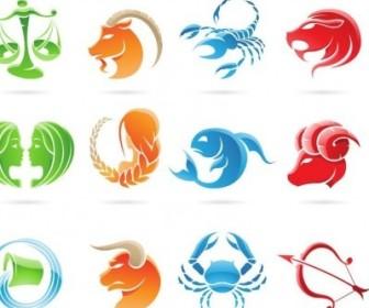 Vector Set Of 12 Zodiac Signs Graphic Vector Art