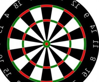 Vector Dartboard Vector Clip Art