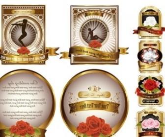 Vector Rose Gold European Label Vector Art