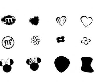 Vector Minnie Mouse 0 Logo Vector Art