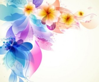 Vector Romantic Background 03 Flower Vector Art