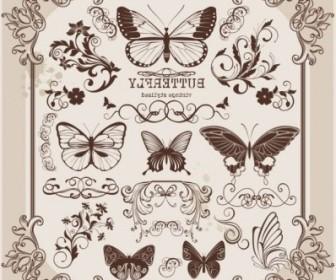 Vector Butterfly 2 Pattern Vector Art