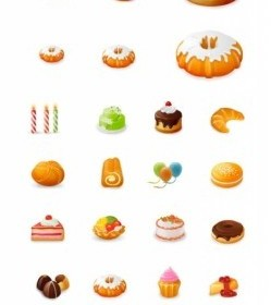 Vector Westernstyle Cakes Beautiful Icon Vector Graphics