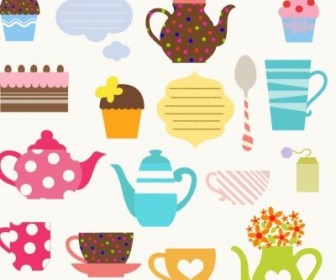 Vector Tea Party Set Vector Art