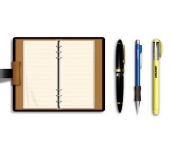 Vector Pen And Notebook Vector Art
