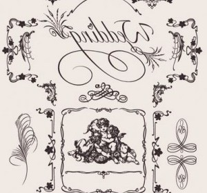 Vector Europeanstyle Wedding Pattern Vector Art