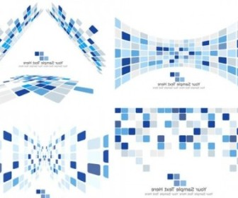 Vector Dynamic Technology Box Pattern 03 Background Vector Art