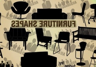 Vector Furniture Silhouettes Vector Graphics