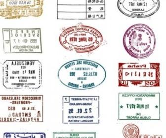 Vector Passport Stamp Seal 03 Vector Art