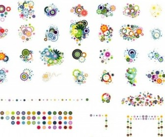 Vector Colorful Flower Vector Art