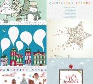 Vector Christmas Illustration Cartoon Vector Art