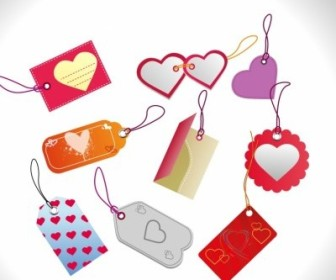 Vector Valentines Day Sales Tags Vector Art