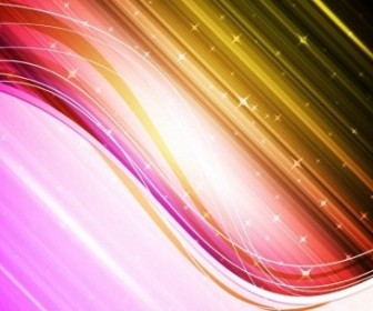 Vector Colorful Waves Abstract Vector Graphics