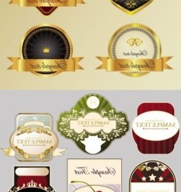 Vector Stickers And Labels Wine 1 Vector Art