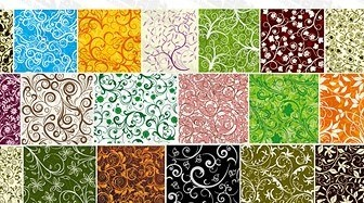 Vector 19, Over The Tile Pattern Background Material Flower Vector Art