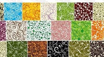 Vector 19, Over The Tile Pattern Background Material Flower Vector Art