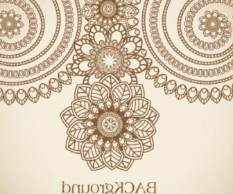 Vector Handpainted Pattern 01 Flower Vector Art