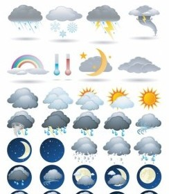 Vector Weather Icon Vector Graphics