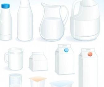 Vector Milk Theme 1 Vector Art