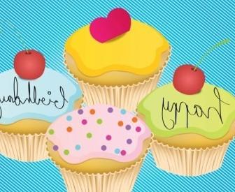 Vector Happy Birthday Card Vector Art