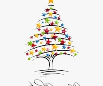 Vector Tree Illustration 2 Christmas Vector Graphics