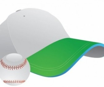 Vector Baseball And Cap Graphic Vector Art