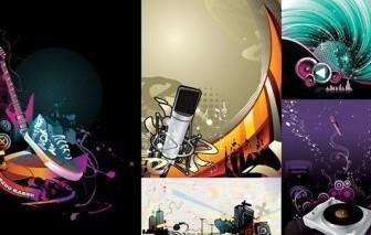 Vector 5 Current Music Illustration Vector Art