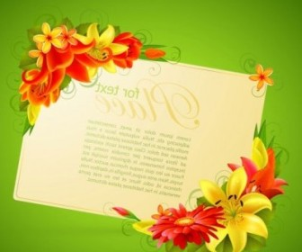 Vector Greeting Cards 05 Flower Vector Art