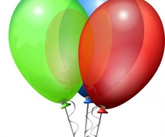 Vector Party Helium Balloons Vector Clip Art