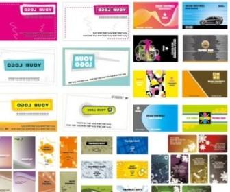 Vector 5 Sets Of A Beautiful Business Card Template Vector Art