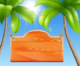 Vector Palm Tree Background Vector Art