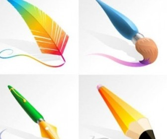 Vector Drawing And Painting Tools Vector Art