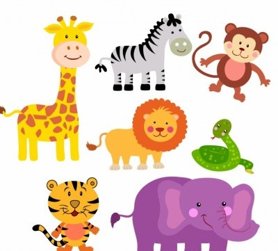 Vector Safari Animals Cartoon Art Ai Svg Eps