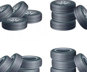 Vector Tire Car Vector Art