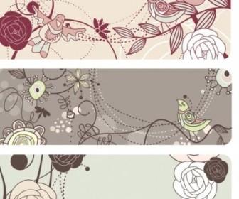 Vector Fashion Cute Bird Flowers 1 Flower Vector Art