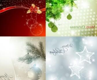 Vector Beautiful Christmas Background Vector Art