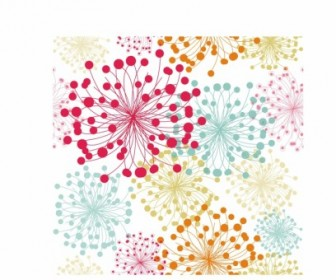 Vector Summer Floral Pattern Vector Art