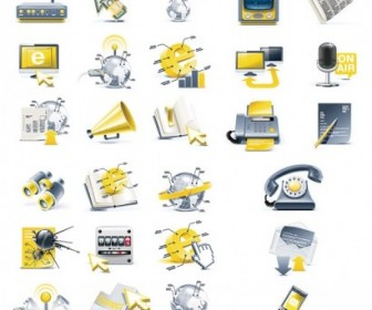Vector Threedimensional Science And Technology Topics Icon Vector Graphics