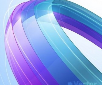 Vector Colorful Ribbons 5 Background Vector Art