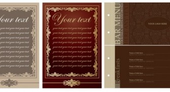 Vector Europeanstyle Lace Menu Templates Pattern Vector Art