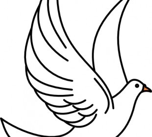 Vector Flying Dove Vector Clip Art