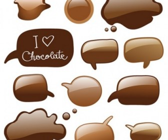 Vector Chocolate Dialogue Bubbles Vector Art