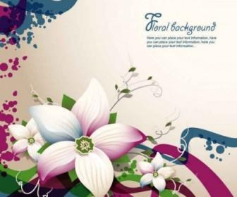 Vector Flower Background Vector Art