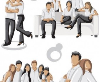 Vector Photo Of Young Men And Women 3 People Vector Art