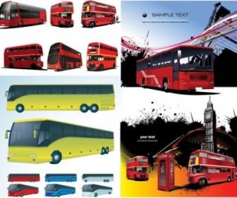 Vector Bus Car Vector Art