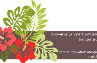 Vector Hibiscus Remixed Vector Clip Art