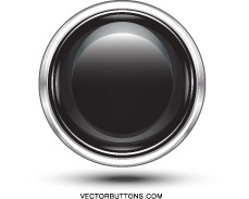 Vector Platinum Black Circle Button Vector Art
