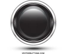 Vector Platinum Black Circle Button Vector Art